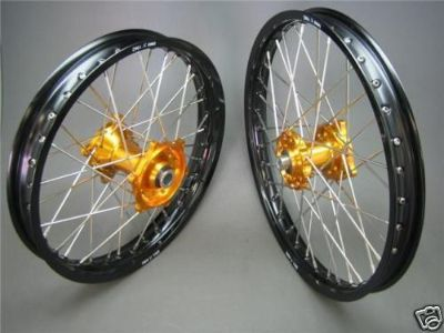 "Buy SUZUKI RMZ250 DNA MX WHEEL SET MOTOCROSS 21""X1.60""/19""X1.85"" 2007-2013 BLK/GOLD motorcycle in Huntington Beach, California, US, for US $549.99"
