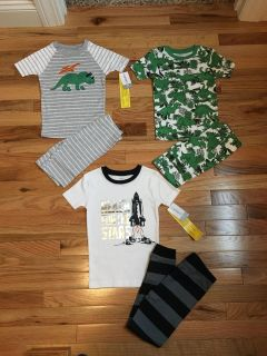 Carter s PJs Lot. 2 Pairs are Shorts, 1 Pair is Pants. Size 5t. Brand New with Tags.