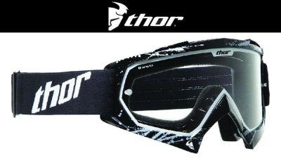 Buy Thor Youth Enemy Splatter Black White Dirt Bike Goggles Motocross MX ATV 2014 motorcycle in Ashton, Illinois, US, for US $29.95