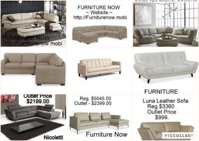 FURNITURE NOW <=== LEATHER FURNITURE OUTLET - DEALS !