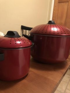 Pasta pots new not used