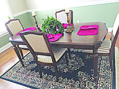DINING ROOM TABLE & CHAIRS, LIKE NEW ...