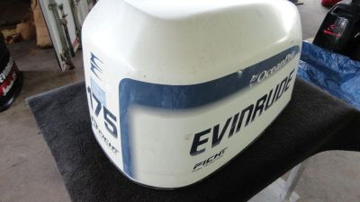 Buy USED EVINRUDE 175HP FICHT UPPER ENGINE COWLING/OUTBOARD BOAT MOTOR COVER motorcycle in Gulfport, Mississippi, US, for US $199.99