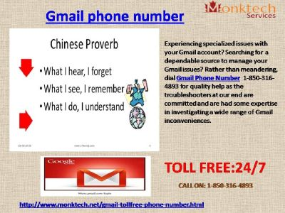Gmail Phone Number Now At Anytime From Anywhere@ 1-850-316-4893