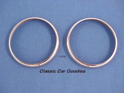 Sell 1937 Ford Tail Light Housing Bezels Stainless Steel motorcycle in Aurora, Colorado, US, for US $17.99