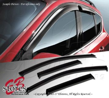 Buy Vent Shade Window Visors 4DR Honda Civic 88-91 1988 1989 1990 1991 4pcs LX DX motorcycle in La Puente, California, United States