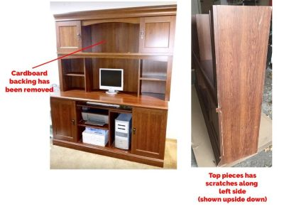 FREE Desk with hutch - turn it into a craft storage table!