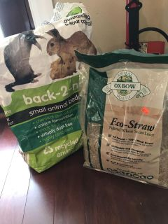 Eco straw pelleted wheat straw and small animal bedding similar to eco straw made from recycled paper one is more than half way full