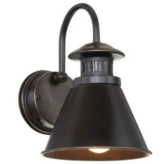 180-Degree Oil-Rubbed Bronze Motion-Sensing Outdoor Wall Lantern