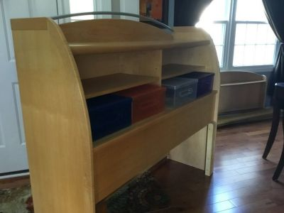 Kids double bookcase bed
