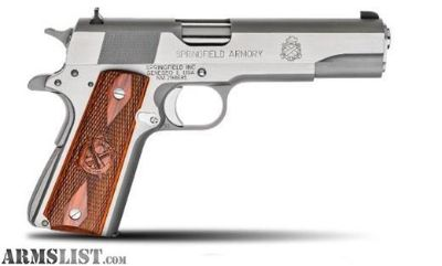 For Sale: SPRINGFIELD ARMORY MIL-SPEC STAINLESS STEEL 45 ACP