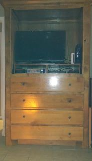 Wooden armoire with 4 storage drawers for sale