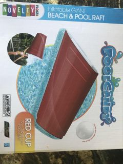 Red Solo cup pool float , new in box.