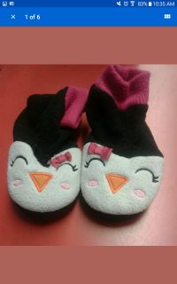 Penguin Slipper Socks Grip Bottoms
