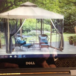 Gazebo EUC 10 x 10 steel frame with new (in box) canopy.