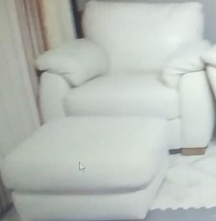 Couch with loveseat and ottoman