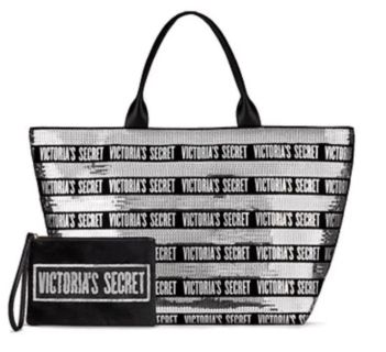 Victoria s Secret Limited Edition 2018 SEQUIN TOTE With wristlet Brand New with tags $40 (Retail $68.00)