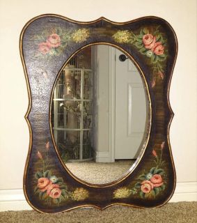 Large Ornate Hand Painted Old World Decor Mirror