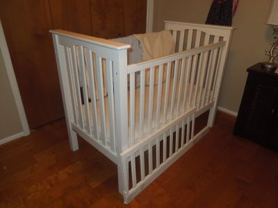 Kendall Crib from Pottery Barn + Toddler Bed Conversion + Naturpedic Mattress and waterproof covers + Crib Sheets