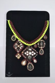 Limited Edition J CREW Knitted Crystal Statement Necklace