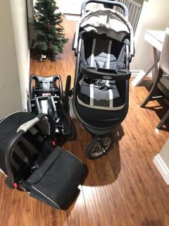 2016 Graco Jogger stroller, infant seat and 2 bases