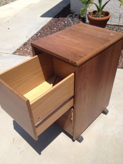 Rolling - File Cabinet 2 Drawer