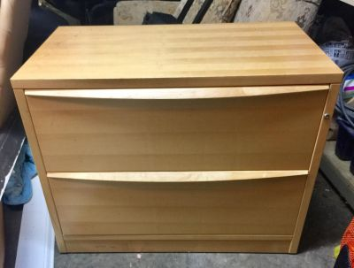 LATERAL TWO DRAWER FILING CABINET