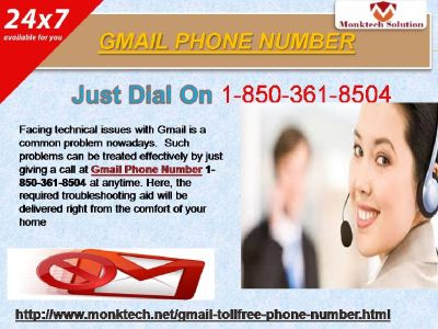 Is Knowhow Of Gmail Phone Number Smashing 1-850-361-8504?