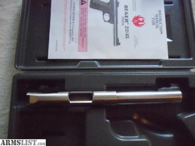 For Sale: Ruger MK-II 22/45 Target Barrel/Action