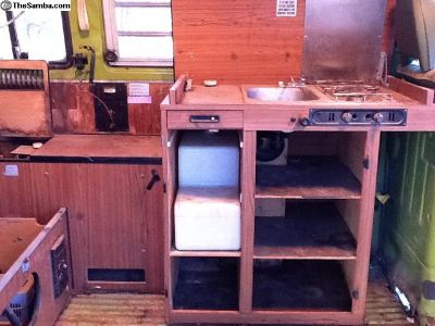 VW Camper Bus furniture, stove, refrigerator, etc.