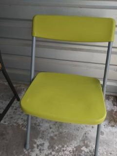 Bright green fold up chair In Fairfield 6/16 if you want me to bring this