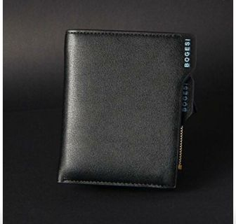 Men s Leather RFID Blocking - Theft Proof Wallet- Protect Your Identity
