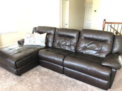 Reclining Leather Couch/Sectional