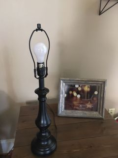 Black lamp 24 tall