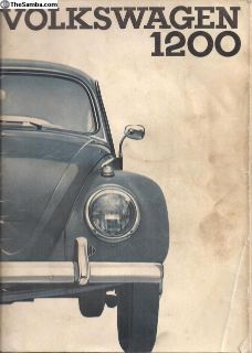 1964 Beetle Bug Owner's Instruction Manual