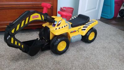 Fisher Price toddler ride on backhoe