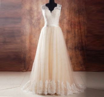 Natalie's A Line Lace Wedding Dress