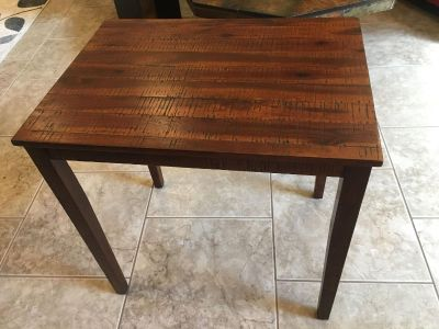 Occasional table; real wood; top 18 x 25.5 ; 25.5 tall