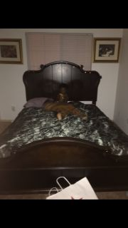 Queen bed frame used frame only
