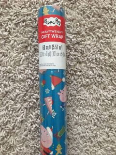 NEW Peppa Pig Wrapping Paper