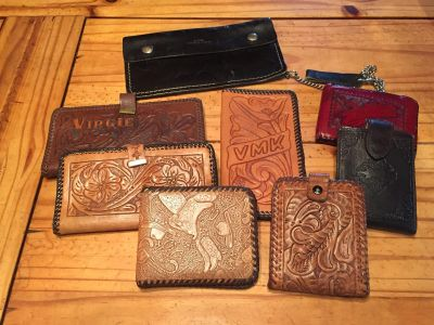 Vintage leather wallets/checkbook cover