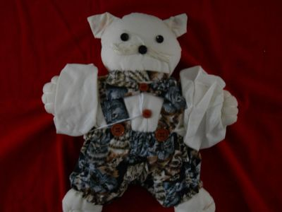 Handmade and Sewn Cat Doll