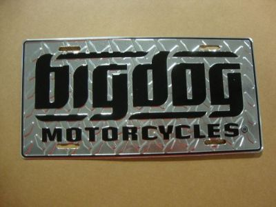 Sell BIG DOG MOTORCYCLES AUTO LICENSE PLATE SILVER DIAMOND PLATE CHOPPER PITBULL motorcycle in Lyons, Kansas, United States, for US $19.99