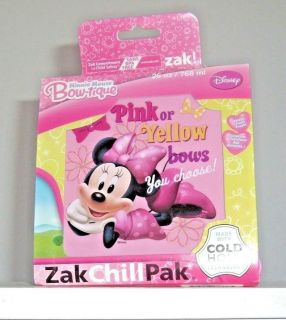 NEW Disney Minnie Mouse Bow-Tique Lunch Sandwich Food Container Zak Chill Pak