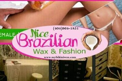 Waxing & Fashion Nice Brazilian by Maria (404)964-1851 or visit//www.mybikiniwax.com