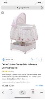 Minnie Mouse bassinet