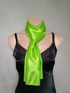 Green Scarf, Green Scarves, Lime Green Scarf, Reversible Scarf, Skinny Scarf, Daphne Scarf, Gree...