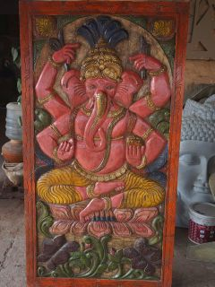 STOREWIDE FREE SHIPPING!!Antique Ekakshara Ganapati Barn Door