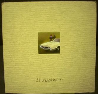 Purchase 1970 Thunderbird Textured Cover ORIGINAL Sales Brochure Brougham Hardtop Landau motorcycle in Holts Summit, Missouri, United States, for US $39.70