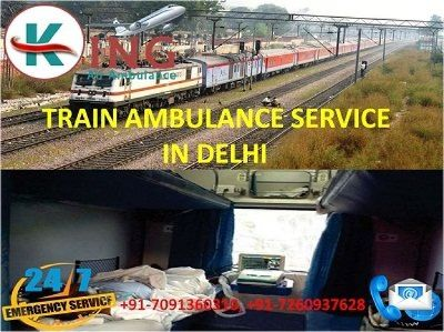 Most Reliable ICU Care Train Ambulance Service in Delhi by King